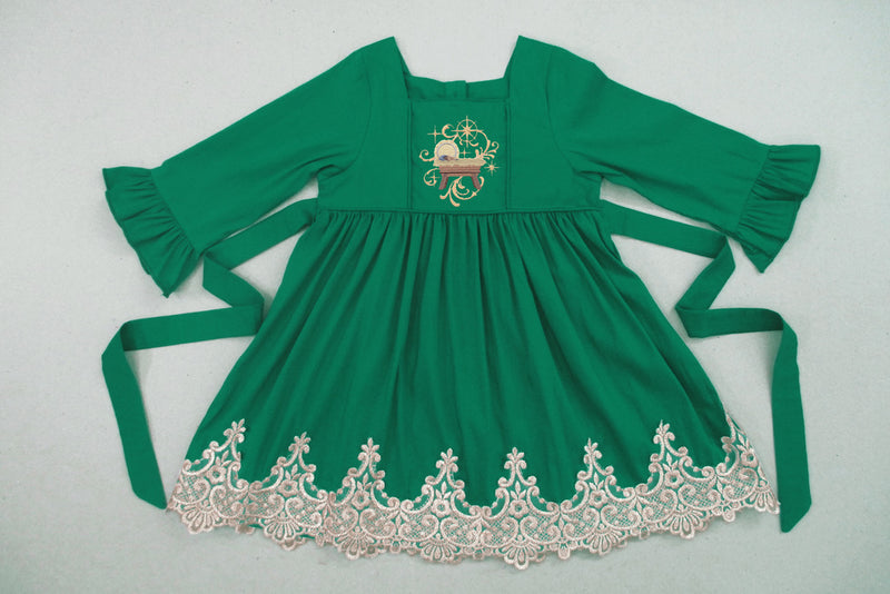 Emerald Baby Jesus Dress