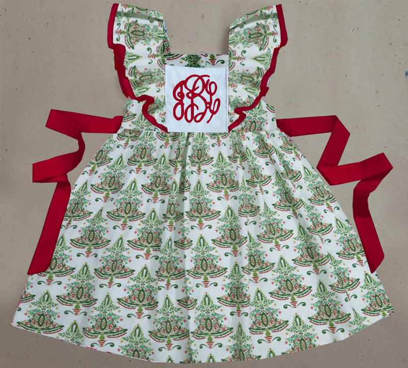 Fancy Tree Pinafore Dress
