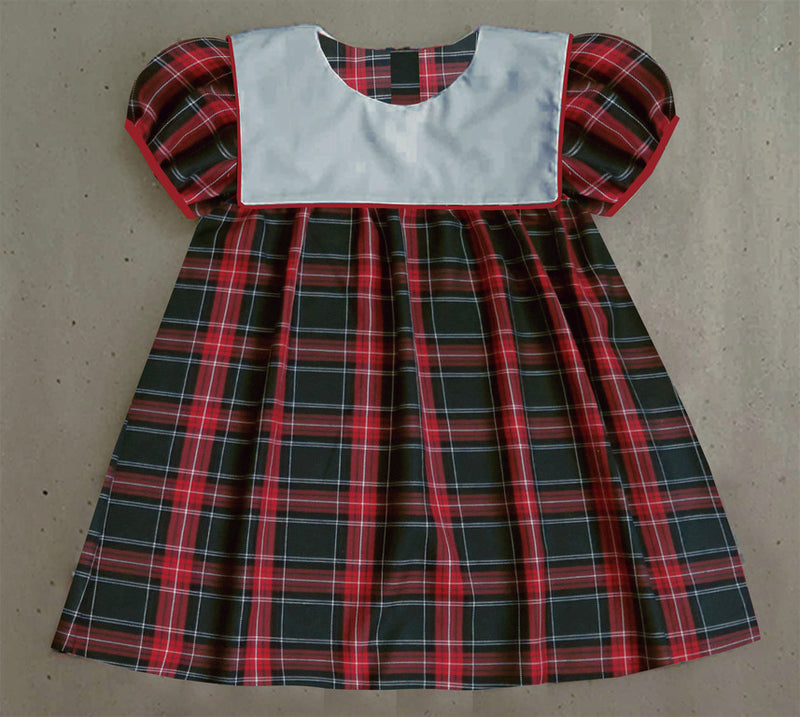 Plaid Bib Christmas Dress