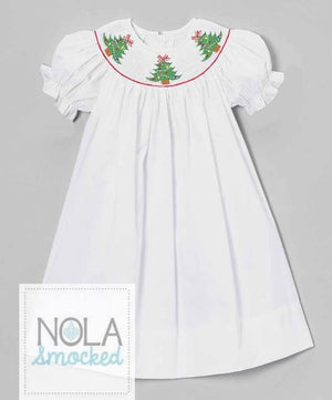 White Tree Bishop Dress