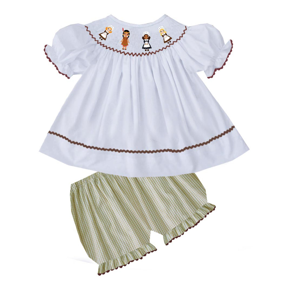2019 Pilgrim and Indian Girl Bloomer Set