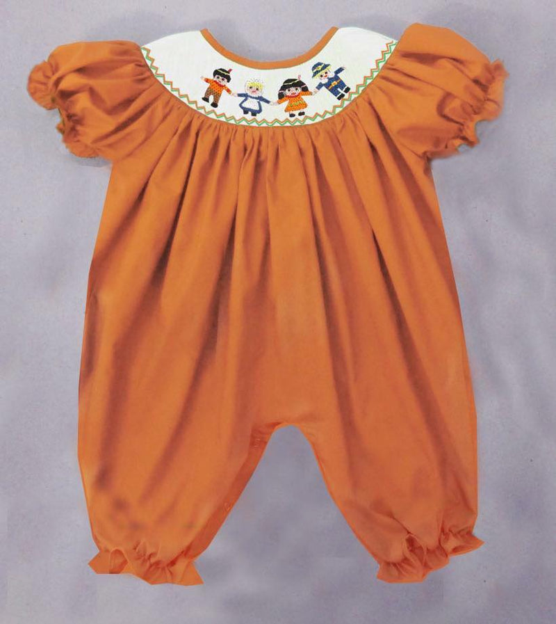 Orange Pilgrim and Indian Romper
