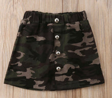 Load image into Gallery viewer, Camo Skirt set