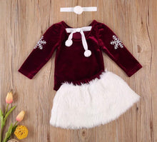 Load image into Gallery viewer, Baby Claus Skirt set