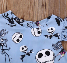 Load image into Gallery viewer, Halloween skeleton dress