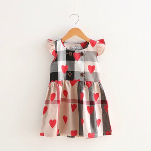 Plaid Heart Dress