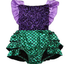 Load image into Gallery viewer, Mermaid Sequin Romper
