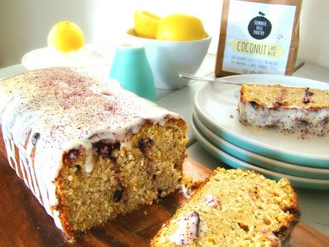 Lemon Zucchini Coconut Loaf