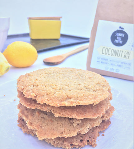 Gluten Free Wholefood Coconut Lemon Biscuits Recipe