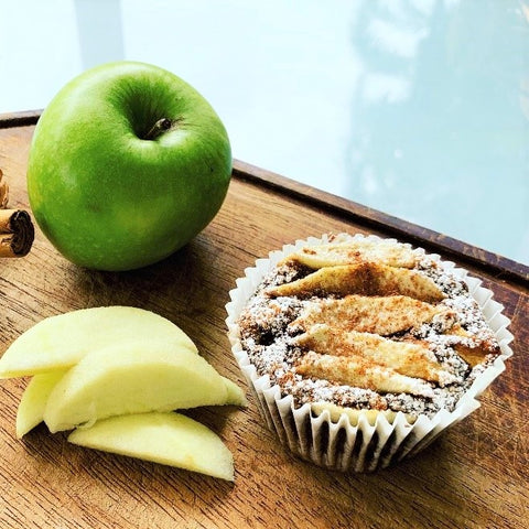 Gluten Free Wholefood apple cinnamon muffins or lunchbox mini muffins