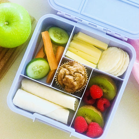 Gluten free wholefood apple cinnamon lunch box mini muffins