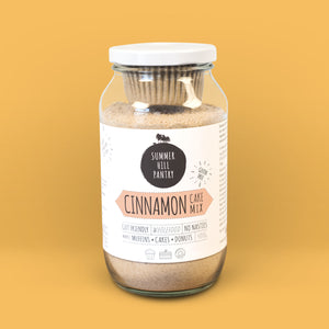 Cinnamon Cake Mix 400g Jar with Patty Pans