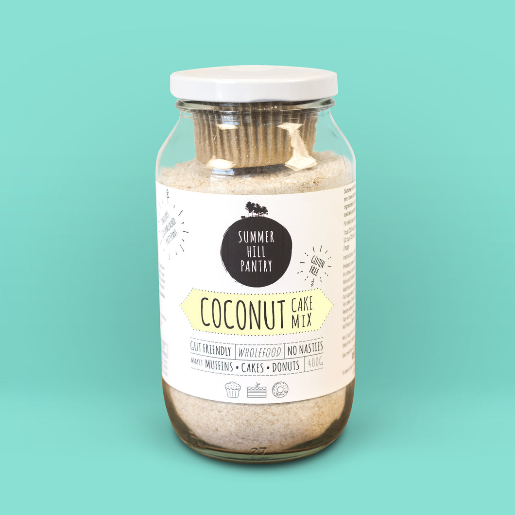 Coconut Cake Mix 400g Jar with Patty Pans