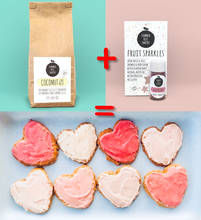 Load image into Gallery viewer, Valentines Day Coconut Raspberry Cookie Pack