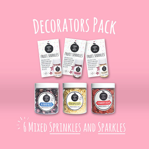 Decorators Pack - 6 Mixed Sprinkles and Sparkles