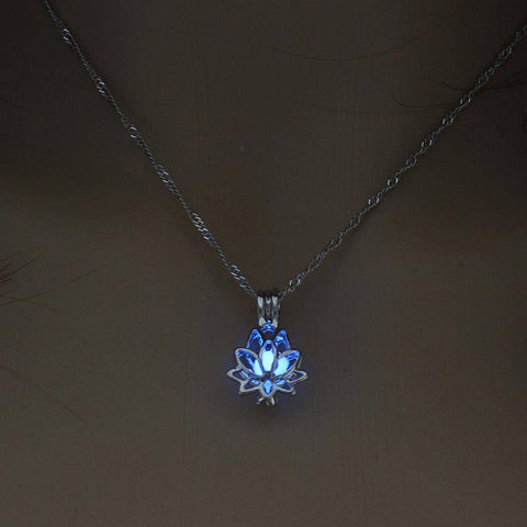 Glow In The Dark Lotus Necklace