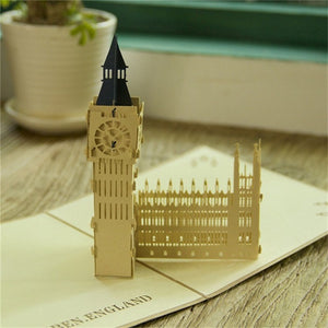 Big Ben Pop Up Greeting Card-3D