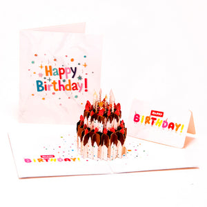 Happy Birthday Pop Up Greeting Cards-3D
