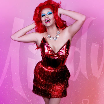 Drag Queen Red Party Dress
