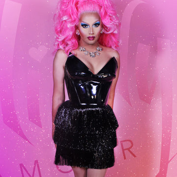 Drag Queen Black Party Dress