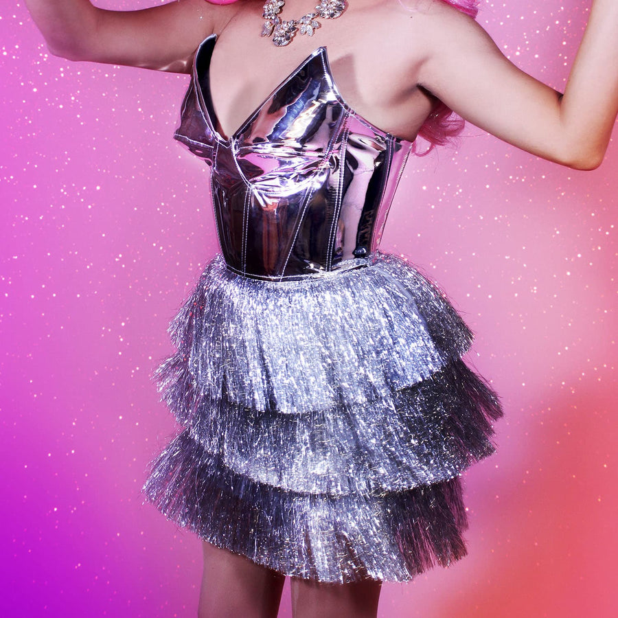 Drag Queen Silver Party Dress