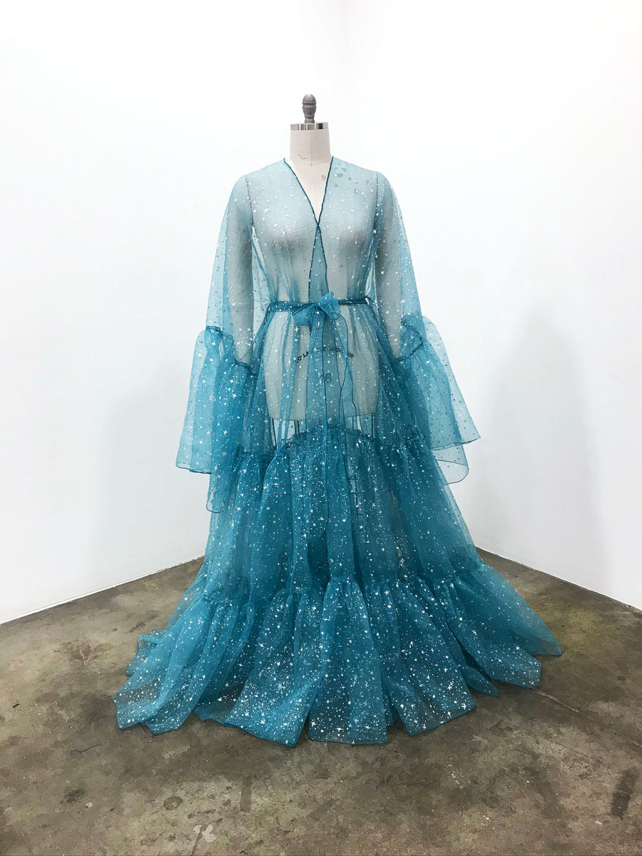 Drag Queen Organza Coat | Starry Night