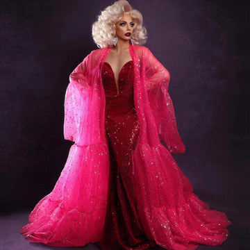 Drag Queen Costume Coat Pink