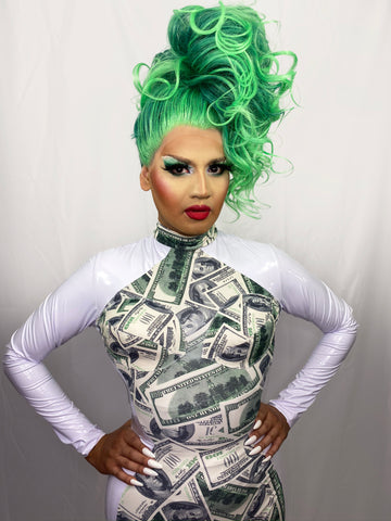 Drag Queen Bodysuit | MONEY HONEY Leotard in Vinyl