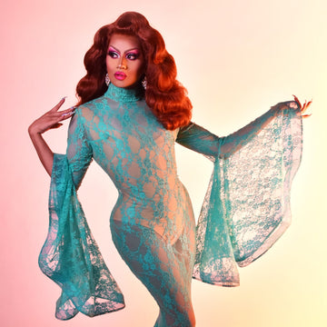 Drag Queen Mermaid Lace Dress | Mint