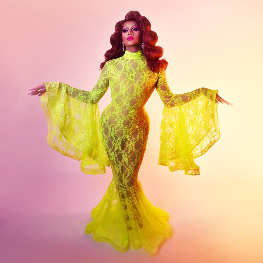 Drag Queen Mermaid Lace Dress