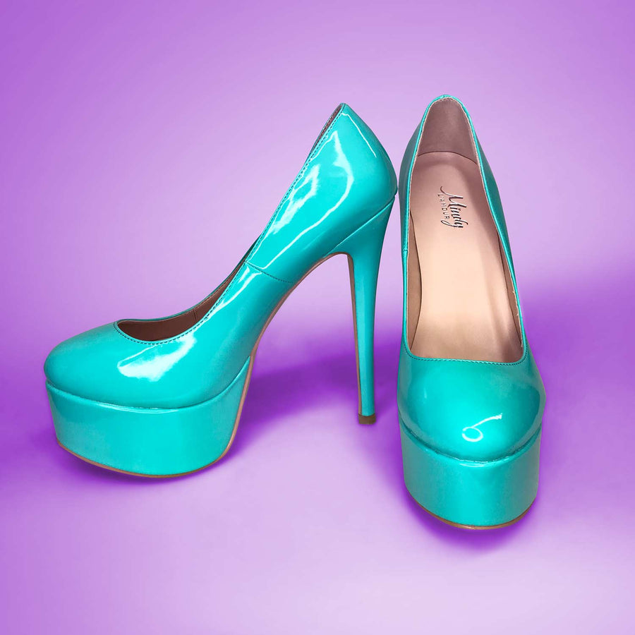 Teal Drag Queen Heels for Men