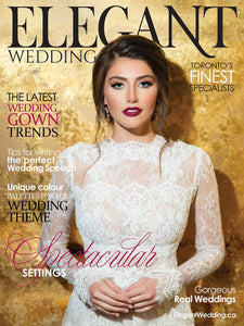 Meg Lizabet featured in Elegant Wedding Magazine Toronto Spring Edition!