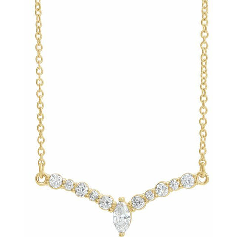 "Diamond ""V"" Necklace"