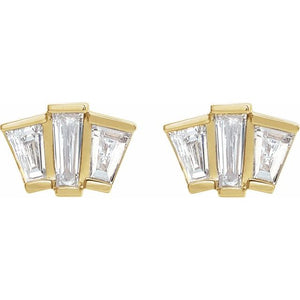 Diamond Fan Earrings