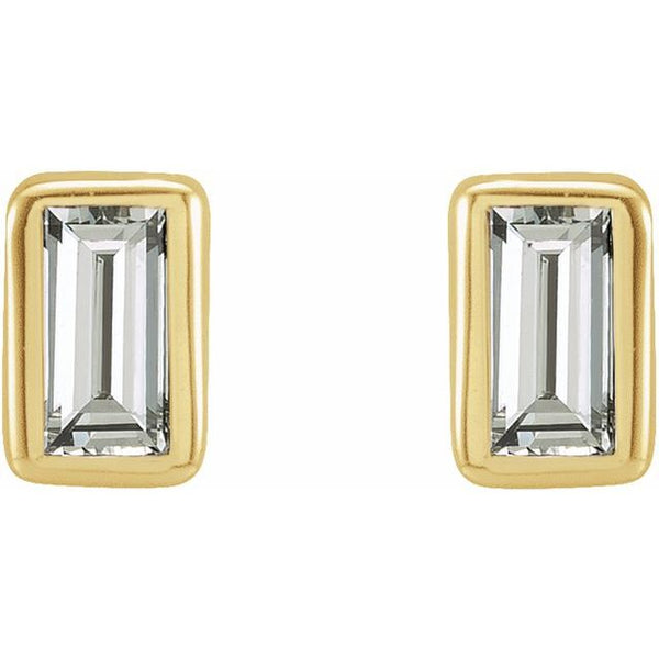 Diamond Bezel-Set Earrings
