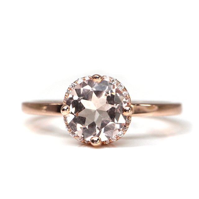 Morganite and Diamond Lisbon Ring
