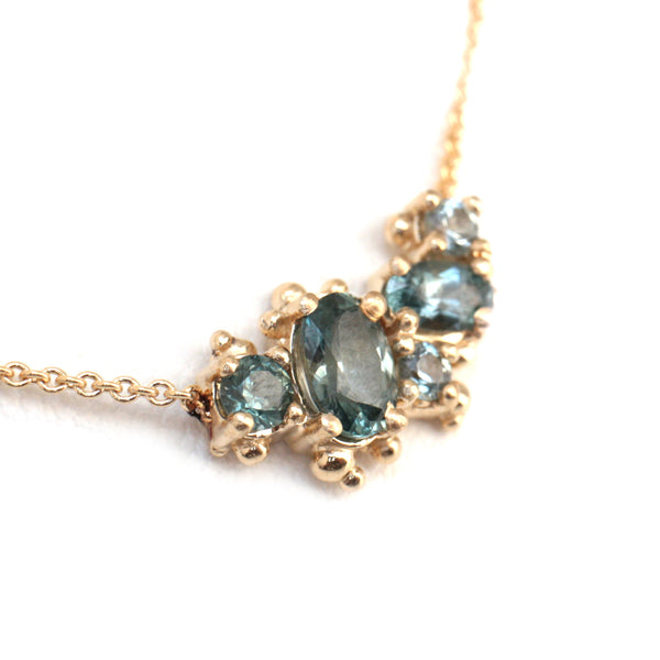Montana Sapphire Cluster Necklace