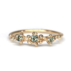 Green Sapphire Areia Ring