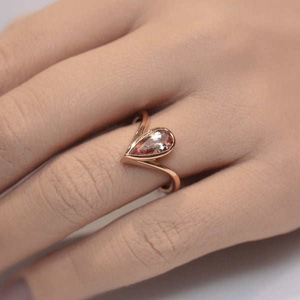Morganite Spire Ring