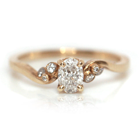 Odecia Oval Diamond Ring