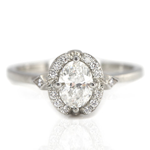 Oval Diamond Lisbon Ring