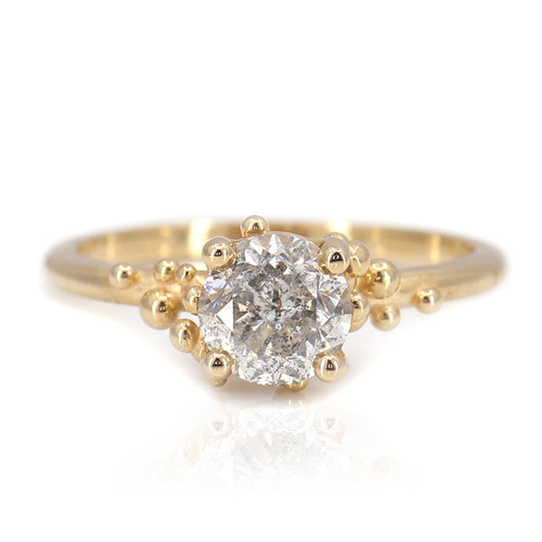 Beatriz Salt & Pepper Diamond Ring