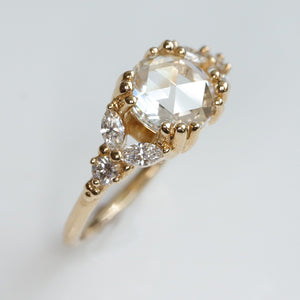 Vintage-Style Rose Cut Diamond Ring