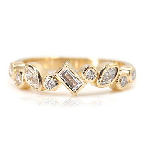 Fancy Diamond Cluster Ring (Bezels)