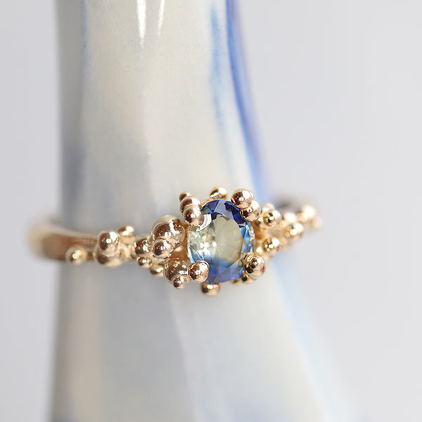 Blue Striped Sapphire Baleal Ring