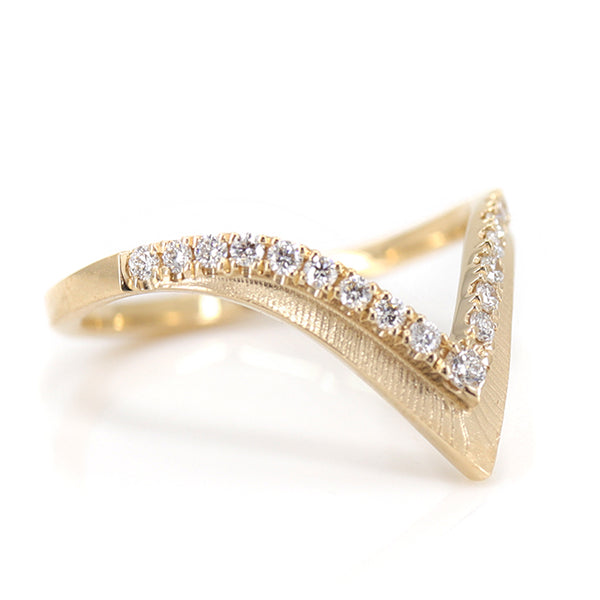 Sereia Gold and Diamond Peak Ring