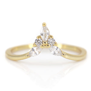 Isabella Diamond Peak Ring