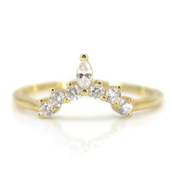 Januaria Diamond Contour Ring