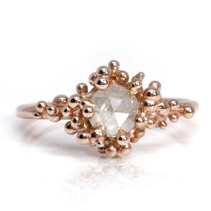 Rose Gold & Rose Cut Diamond Baleal Ring