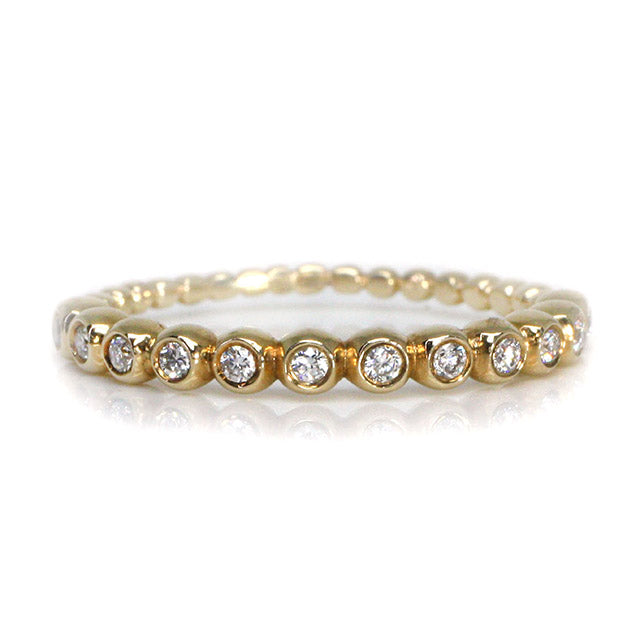 Half Eternity Diamond Bubble Ring